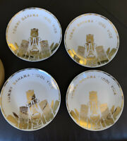 Tommy Bahama Idol Vice Tiki Appetizer Plates Bar Snack Plates Set Of 4
