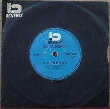 """OS CARBONOS 1970 """"O Cabecao/Quero voltar pra Bahia"""" Funk Soul 7"""" BRAZIL 45 HEAR"""