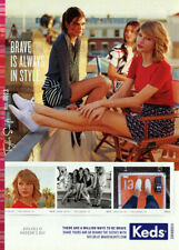 2014 Keds sneakers Taylor Swift legs shoes 1-page MAGAZINE AD
