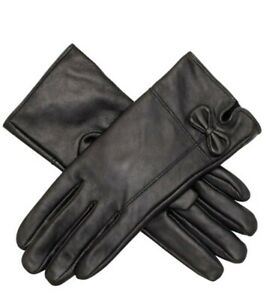 Handbag Bliss Super Soft Leather Ladies Womens Gloves with Bow