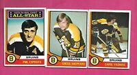 1974-75 OPC BOSTON BRUINS  CARD LOT INCLU PHIL ESPOSITO  (INV# D2169)