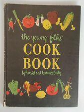 Young Folks Cookbook by Harriet & Laurence Lustig 1946 hardcover
