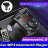 Sans Fil Voiture bluetooth Transmetteur Fm Radio MP3 Musique Lecteur 2 USB Aux