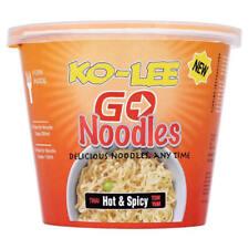 Ko-lee Go Cup Pot Noodles Thai Hot & Spicy Flavour 65g x 6 Pack Folk in each Tub