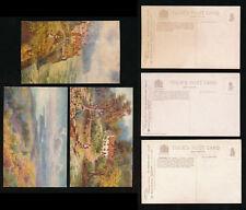 YORKSHIRE COAST TUCKS OILETTE FACSIM TYPE 7774 ARTIST WIMBUSH UNUSED 3 CARDS