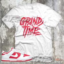 """Sneaker Tees Dunk Low Championship Red Match """"GRIND TIME"""" Total Orange Shirt"""