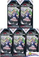 (5) 2015 Topps Chrome MINI Football EXCL HOBBY Hanger Box-15 Packs+15 PARALLELS
