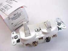 Pass & Seymour 696-La Combo Single Pole/3-Way Stacked Switch Lt. Almond New b225