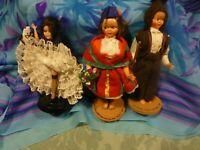 lot=ancien poupées celluloid  folchloriques 3piéces  parisienne et les portugais