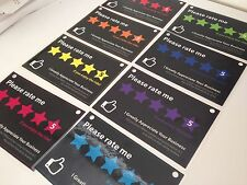 8 x Designer - Uber Lyft 5 Star Ratings Decal Sign Rideshare Car Rainbow Display