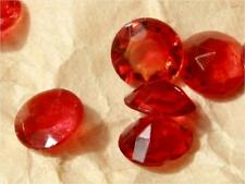 Lot (50) 7mm Czech vintage red faceted round glass rhinestones