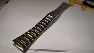 NEW GUCCI STRAP/BAND two-toned yellow and Stainless Steel Swiss Made 22.5mm x 22
