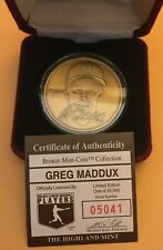 The Highland Mint Greg Maddux Bronze Coin Medallion /25000 Braves