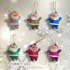 Set of Santa Claus Christmas Tree Xmas Ornaments Gift Red Pink Gold Silver Blue