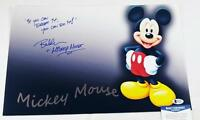 "BRET IWAN ""MICKEY MOUSE"" SIGNED METALLIC 11X17 PHOTO DISNEY BECKETT BAS COA 133"
