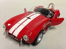 "1965 Shelby Cobra 427 S/G, 5"" Die Cast Metal 1:32 Pull Back Kinsmart Toy Red"