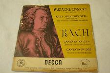 Bach Cantata 51 & 202 Danco Munchinger Decca LXT 2926 England G+ LP G+ cover