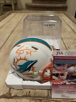 Ricky Williams Autographed/Signed Mini Helmet JSA COA Miami Dolphins Flat White