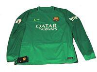 Nike Trikot Shirt Barcelona Sponsored  L/S 2016 2017 grün langarm DriFit XL