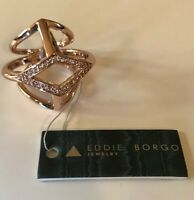 Eddie Borgo Luxury Pave Ring - Rose Gold Ring    Uk Size O Ring - US Size 7   (2