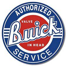 "Buick Service 12"" Round Tin Sign Nostalgic Metal Sign Retro Home Garage Decor"