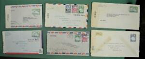 BERMUDA STAMP COVERS SELECTION OF 6  (R14)