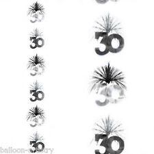 Bilanciere Nero e Argento 30 Festa di Compleanno a cascata Colonna per appendere decorazione
