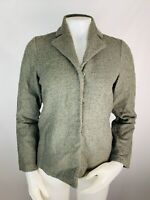 Eileen Fisher PP Women's Jacket Coat Nubby Knit Wool Snap Button Front Collared