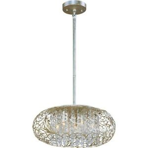 Maxim Lighting Arabesque 7-Light Pendant Golden Silver - 24154BCGS