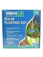 HOZELOCK CYPRIO SOLAR POWERED FLOATING LILY POND FOUNTAIN PUMP KOI FISH GARDEN