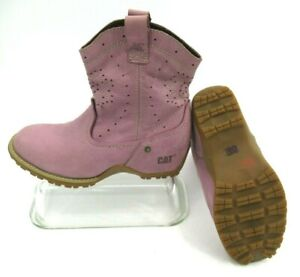 """CATERPILLAR CAT Womens Adriana Lo Purple 7"""" Ankle Boots Size 8 US Gum Rubber"""