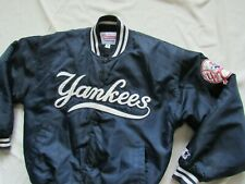 Vtg 90s New York Yankees Starter Jacket Satin Sz Medium 80s Spellout MLB Diamond