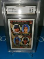 GMA 8.5 MINT ~1993 TOPPS TOP PROSPECTS GOLD MIKE PIAZZA RC DELGADO ROOKIE 🍎🔥⚾️