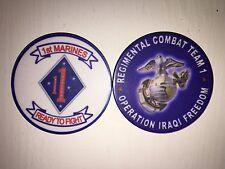 USMC Marine Corps 1st Marines Regimental Combat Team 1 Poker Challenge Chip Coin