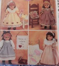 """3275 McCall's Dress Nightgown Purse Quilt fits 18"""" American Girl type Dolls"""