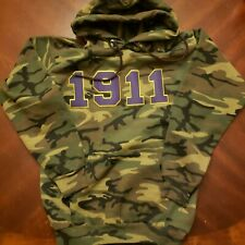 Omega Psi Phi 1911 Camouflage Hoodie- XL