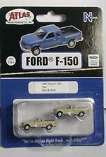 Atlas, set of 2 1997 Ford F-150 Pickup trucks, Tan # 2945. N 1:160. Mip