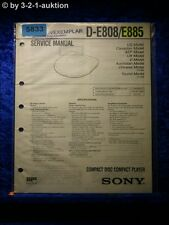 Sony Service Manual D E808 /E885 CD Player (#5833)
