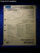 Sony Service Manual D E808 /E885 CD Player (#5833)