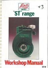 Lister moteur diesel st & service d'atelier STW manuel-INDUSTRIAL & MARINE + + + +