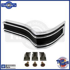 65 Caprice & SS Black / Gray Rear Body Tail QUARTER Panel Corner Molding PAIR