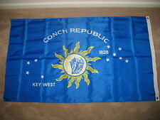 3x5 Key West Conch Republic 210D Nylon Flag (Indoor/Outdoor) made in usa