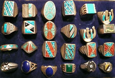 ANTIQUE TURQUOISE  RINGS  COLLECTION...40 PCS