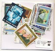 LOT DE 50 TIMBRES THEMES GENERAL DE GAULLE TOUS DIFFERENTS
