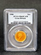GREAT BRITAIN SOVEREIGN 1990 PCGS PR65CAM CERTIFIED ENGLISH GOLD