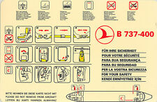 Safety Card - THY Turkish Airlines - B737 400 - 2 Red Crescent version (S2630)