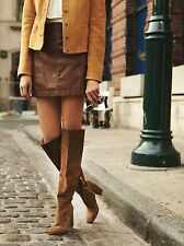 Free People Liberty Heel Boot Size 9 New Green/Brown Suede MSRP: $228