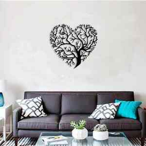 GORGEOUS HEART TREE METAL STEEL  PAINTED HANGING WALL ART DECORATION