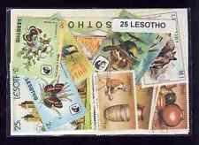 Lesotho 25 timbres différents