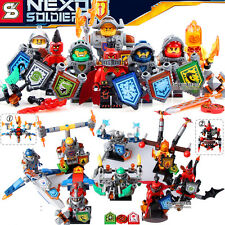 NEW 8pcs NEXO Knights Armor Jestro Scurrier Moltor diy Minifigures Kids Toys
